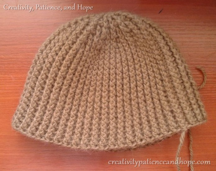 main part of crochet hat finished