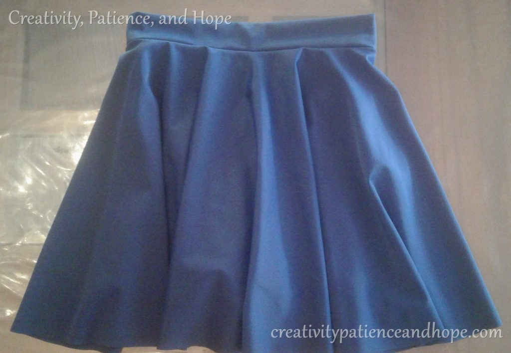 short navy blue circle skirt