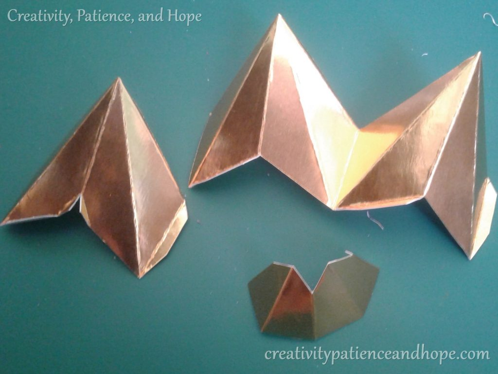 star template pieces folded
